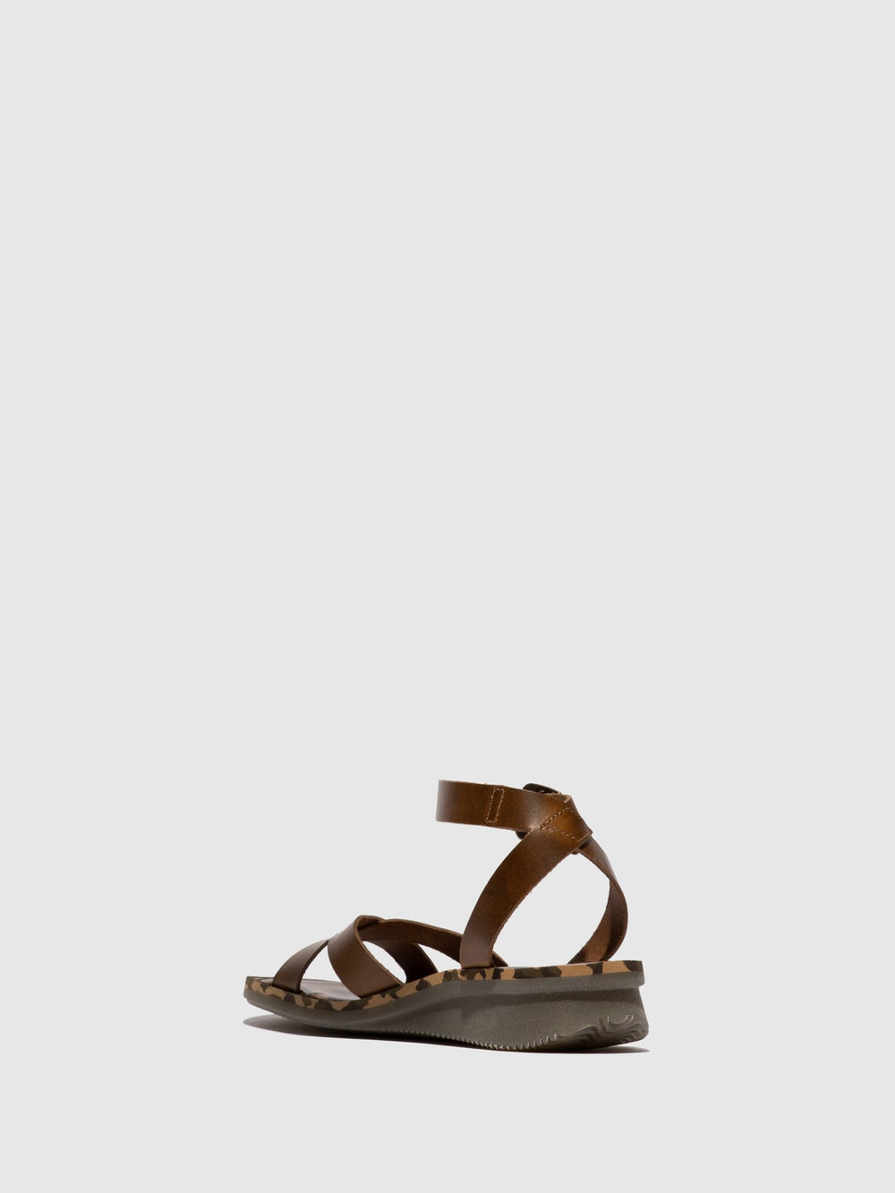 Camel Ankle Strap Sandals