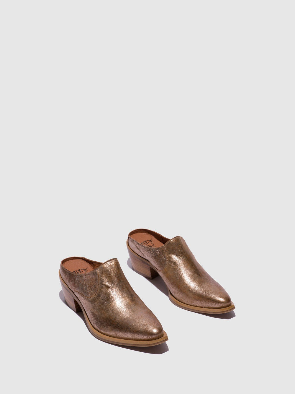 Gold Closed Mules