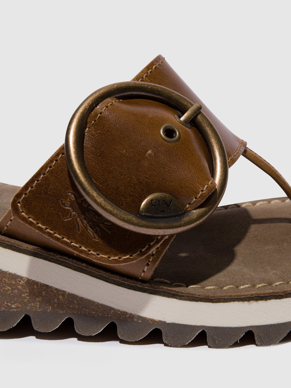 Camel Open Toe Sandals