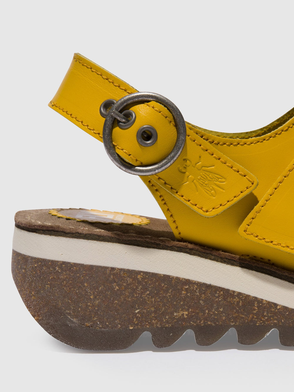 Yellow Buckle Sandals