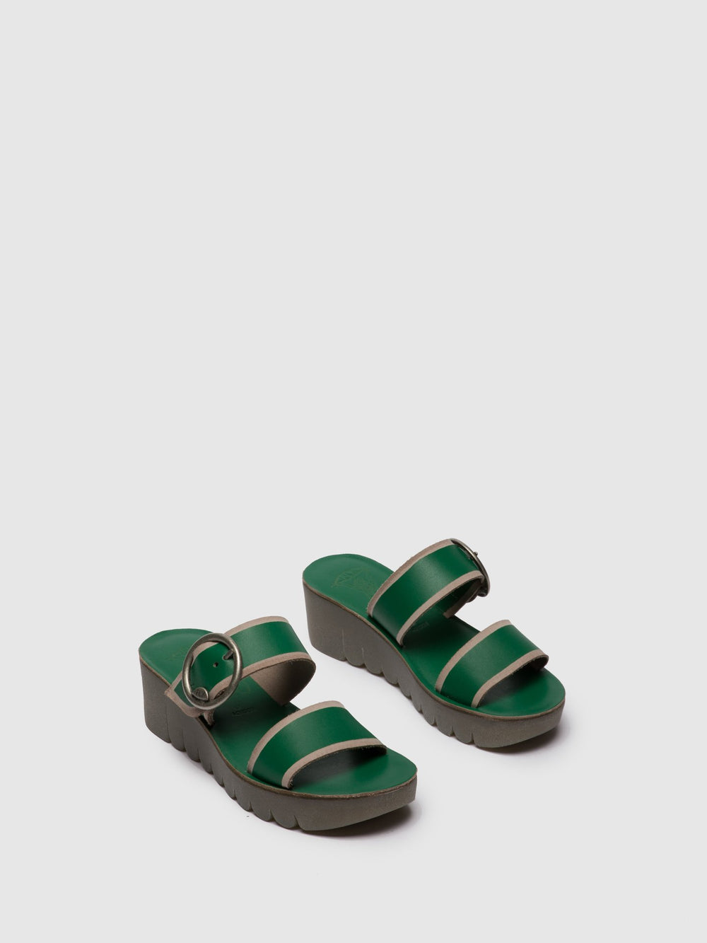 Green Strappy Mules