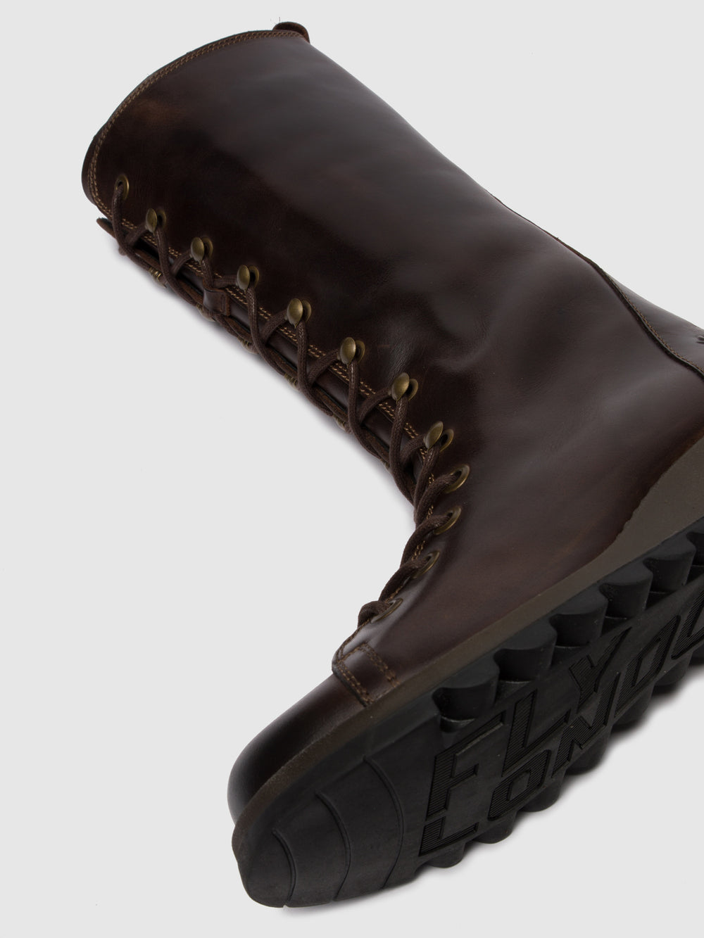 Lace-up Boots SYAS652FLY RUG DK. BROWN