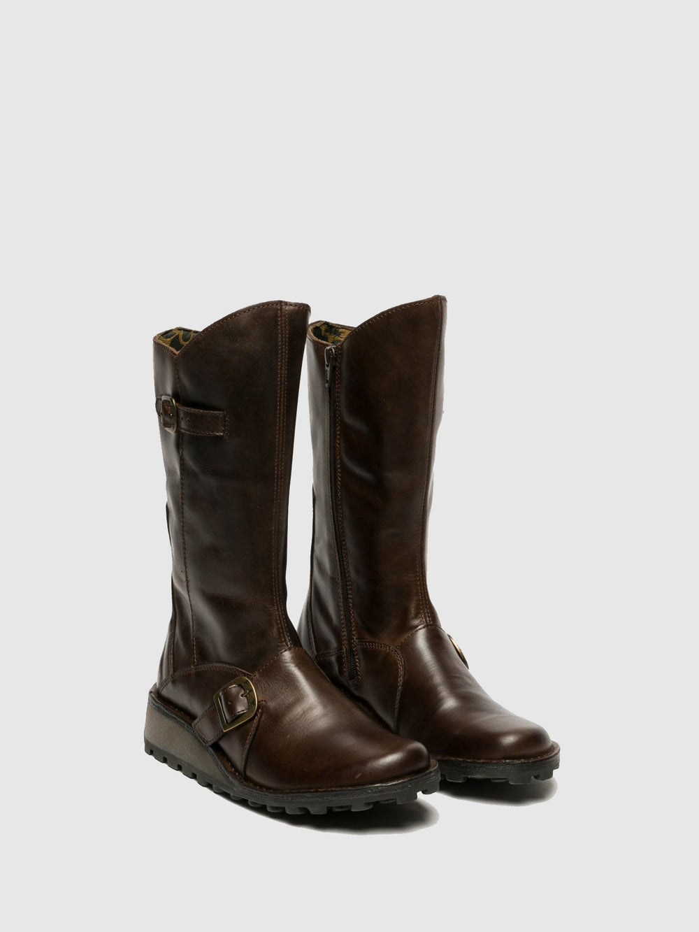 Buckle Boots MES DK BROWN