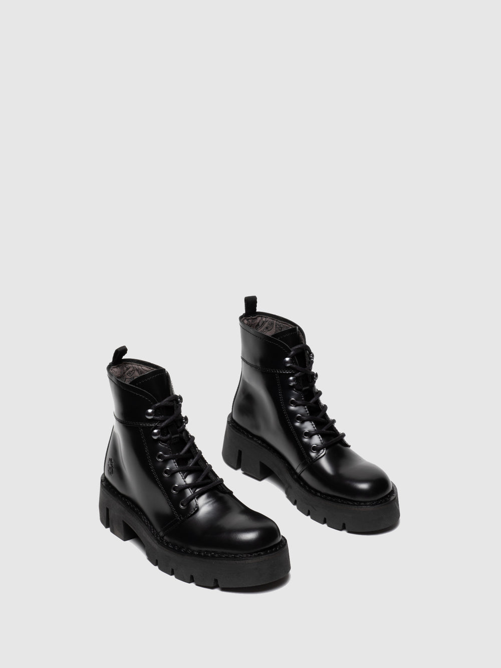 Lace-up Ankle Boots BOLA009FLY BLACK