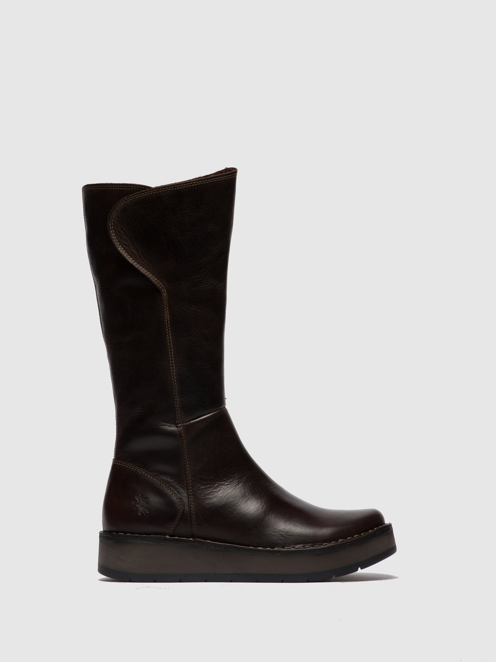 Zip Up Boots RHEA042FLY RUG DK. BROWN