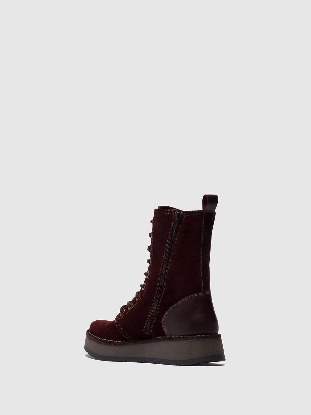 Lace-up Ankle Boots RAMI043FLY OILSUEDE/RUG WINE