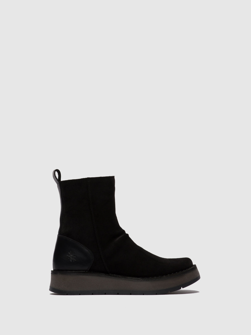 Zip Up Ankle Boots RENO053FLY OILSUEDE/RUG BLACK