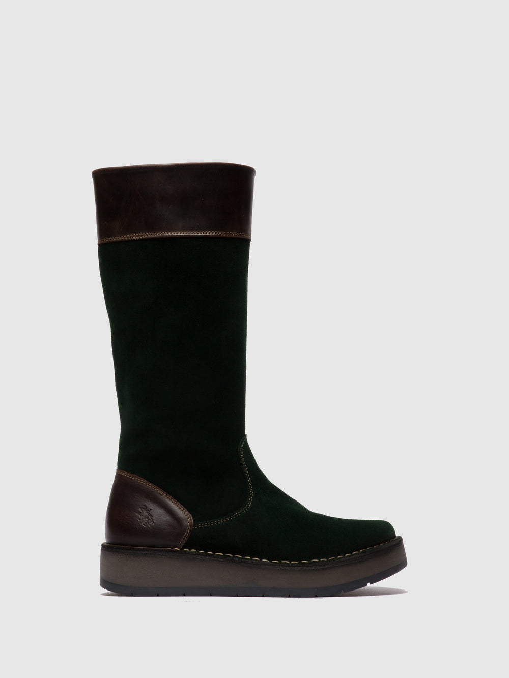 Zip Up Boots RIPA056FLY OILSUEDE/RUG GREEN FOREST/DK.BROWN