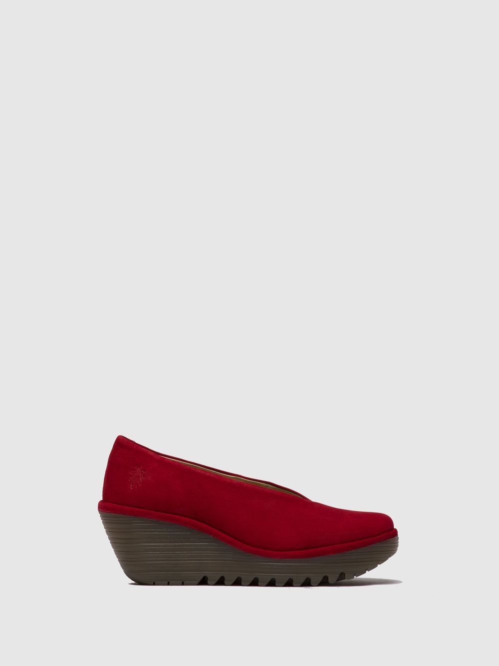Firebrick Wedge Shoes