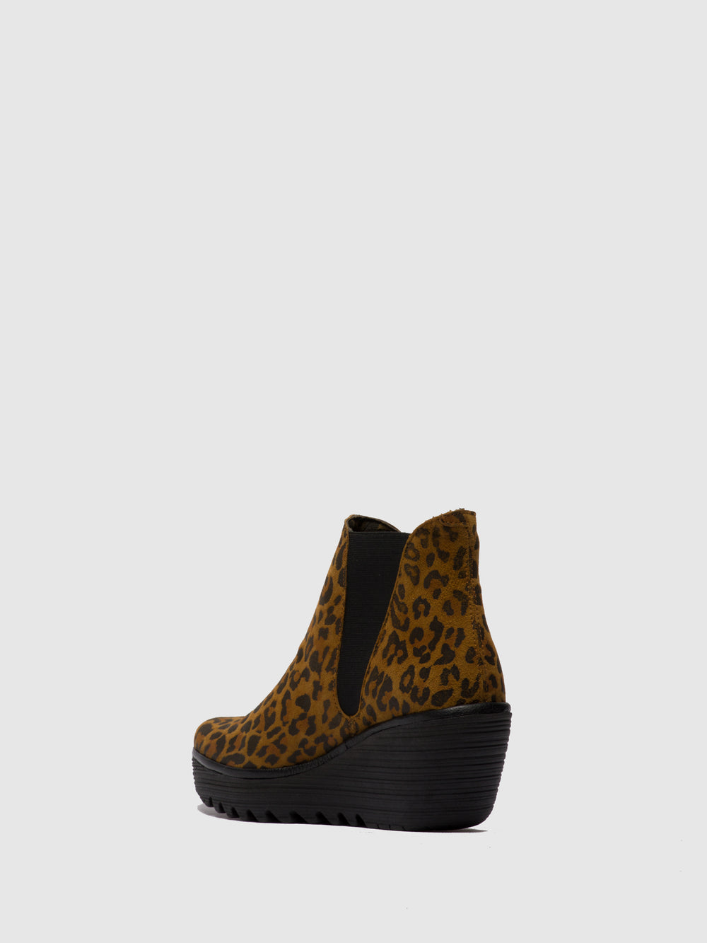 Chelsea Ankle Boots YOSS CHEETAH TAN(BLACK)