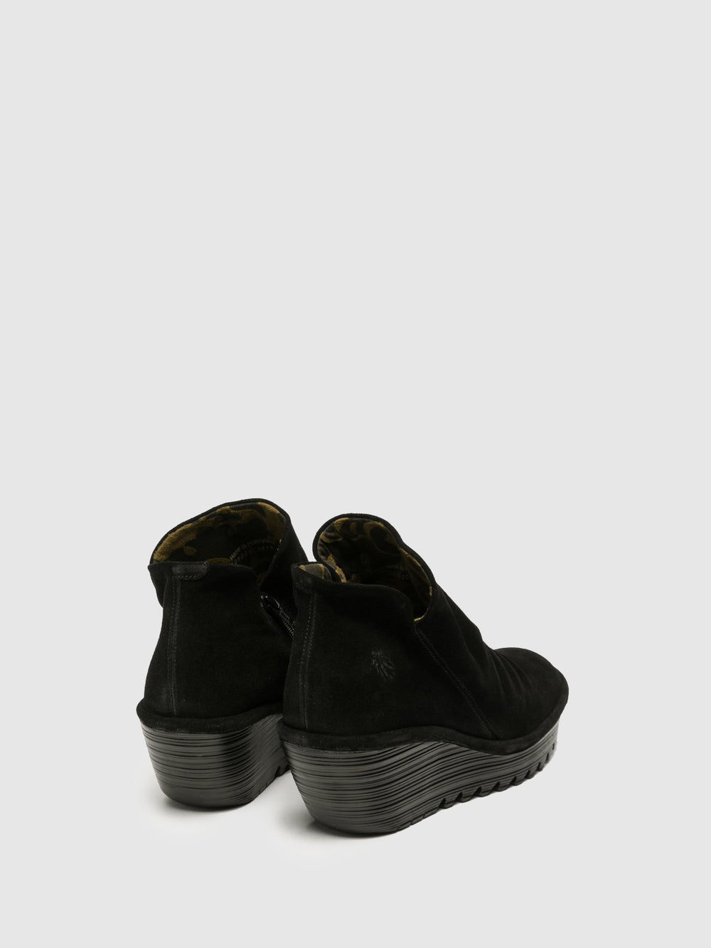 Zip Up Ankle Boots YIP BLACK
