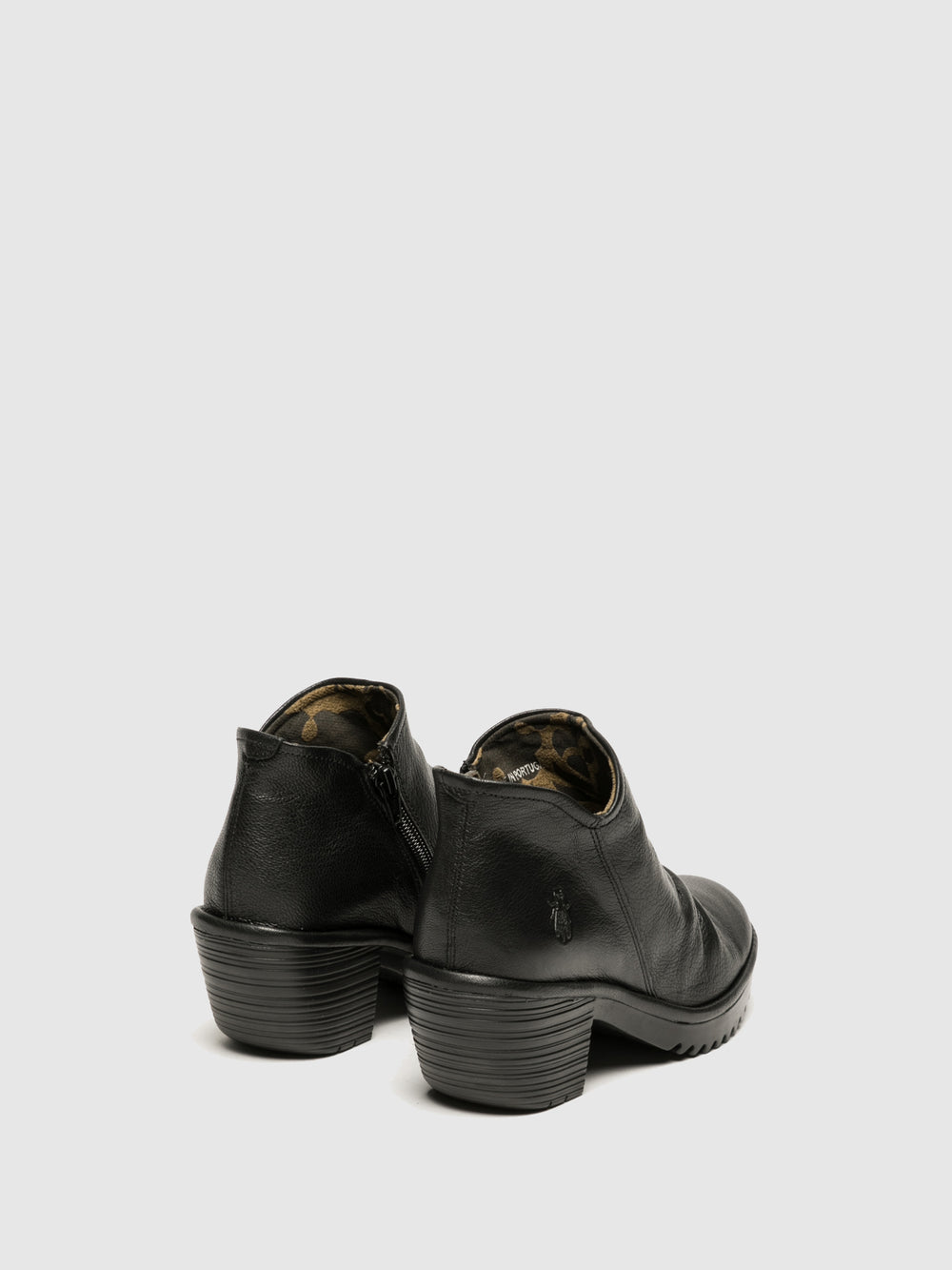 Zip Up Ankle Boots WEZO890FLY BLACK