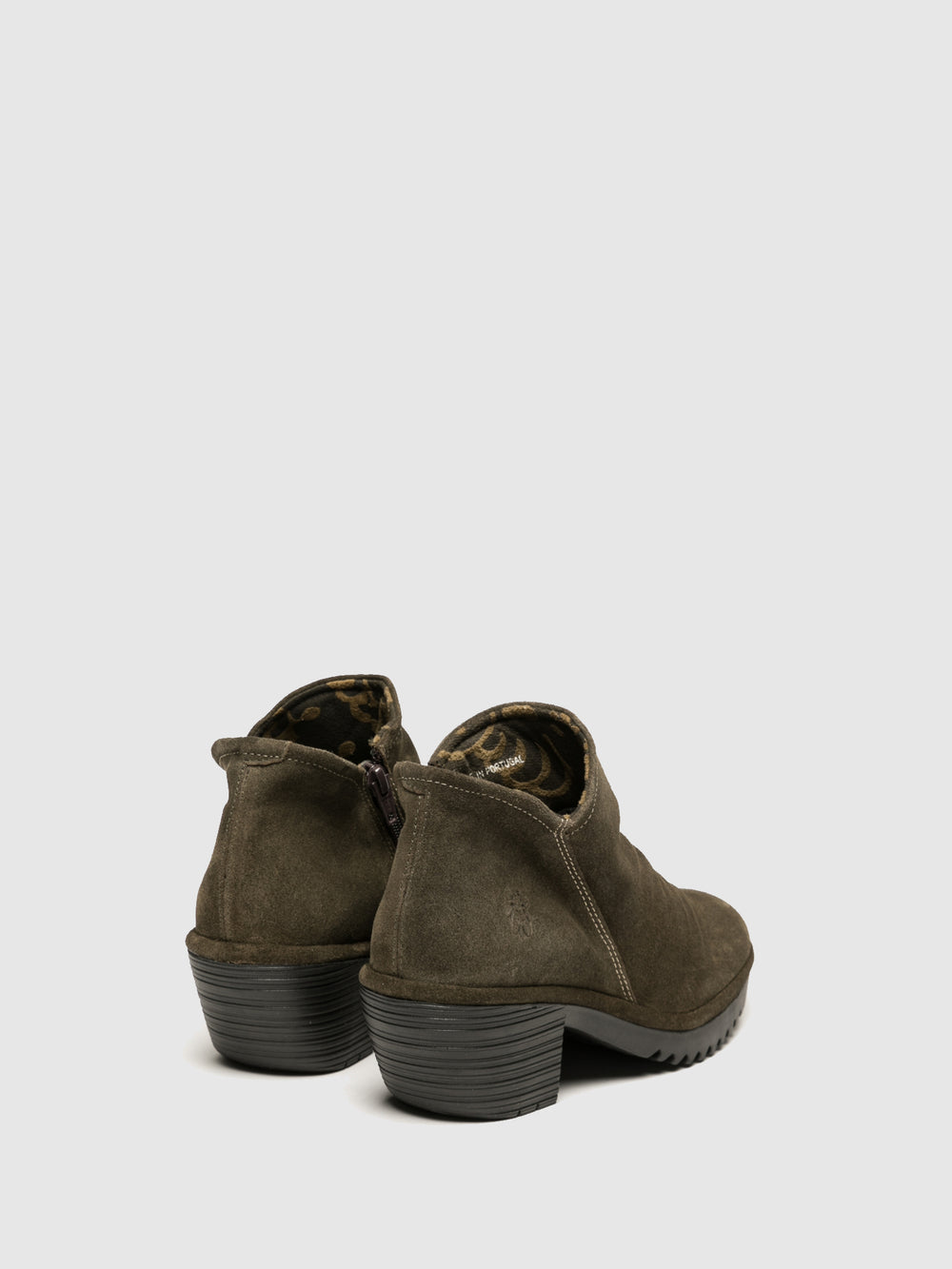 Zip Up Ankle Boots WEZO890FLY SLUDGE