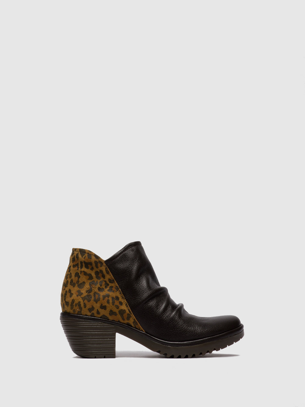 Zip Up Ankle Boots WEZO890FLY MOUSSE/CHEETAH CHOCOLATE/TAN