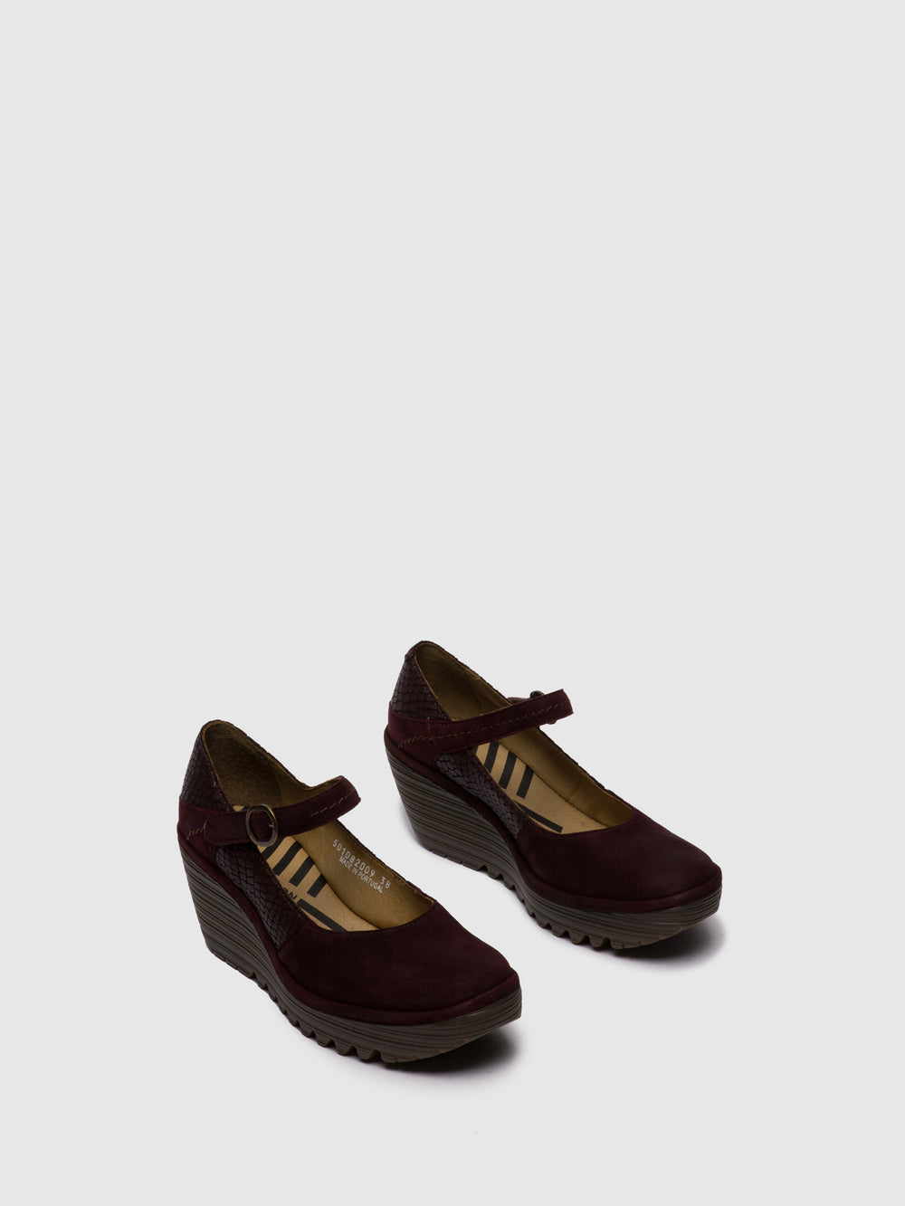 Mary Jane Shoes YUKO082FLY SILKY/CROCO WINE