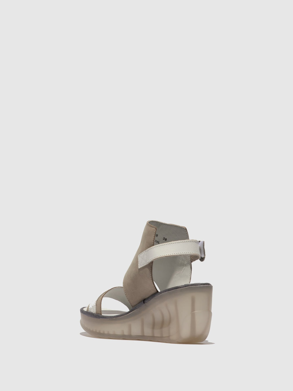 LightGray Ankle Strap Sandals