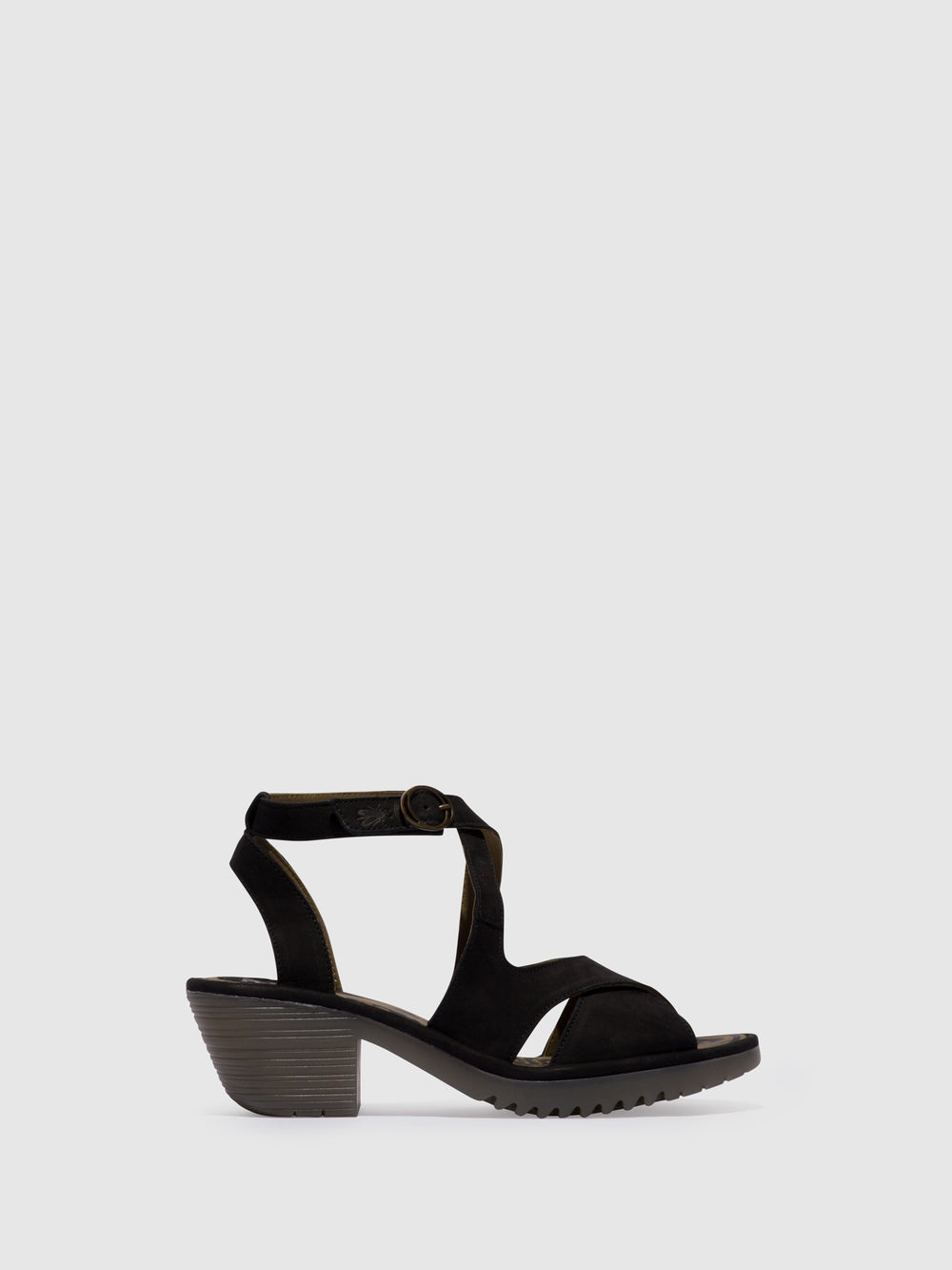 Ankle Strap Sandals WAFE152FLY BLACK (CRISTAL SOLE)