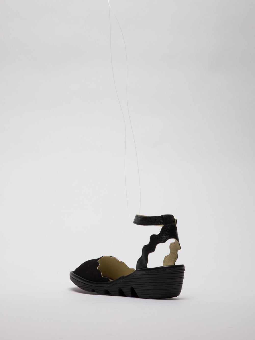 Ankle Strap Sandals PINE192FLY BLACK
