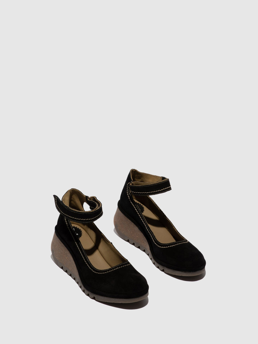 Black Suede Wedge Shoes