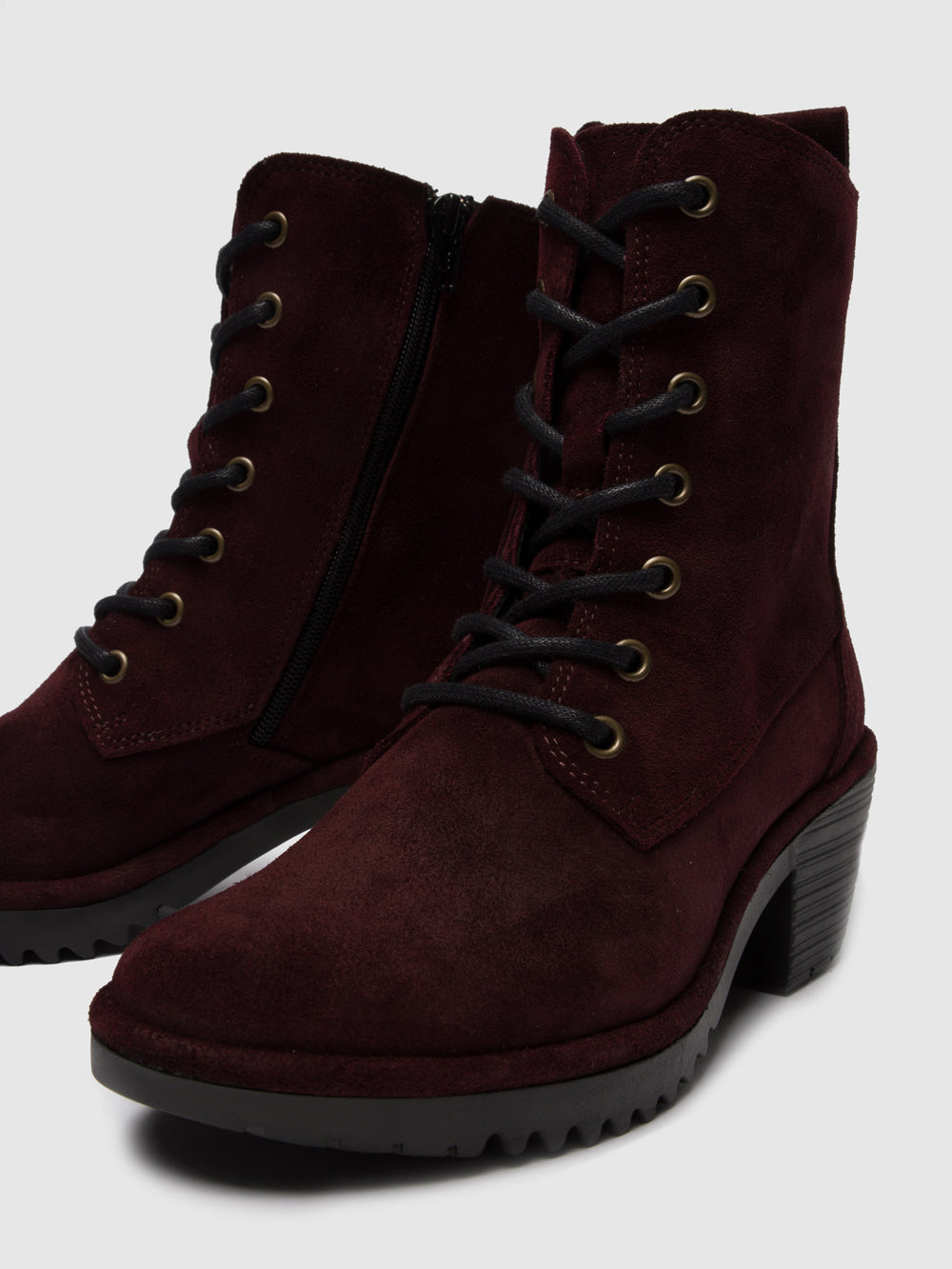 Lace-up Ankle Boots WEBE244FLY COLUMBIA WINE