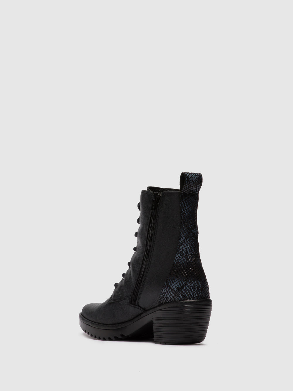 Lace-up Ankle Boots WEBE244FLY MOUSSE/SNAKE BLACK/BLACK (GREY)