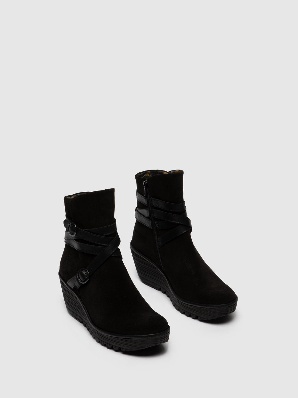 Buckle Ankle Boots YOMO249FLY OILSUEDE/RUG BLACK