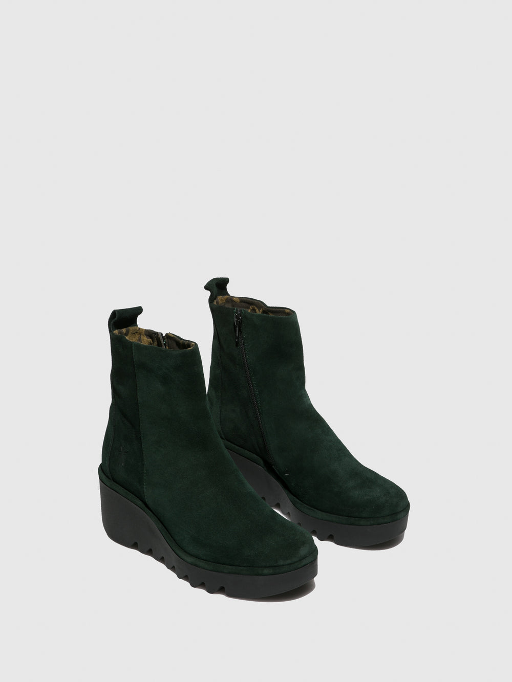 Zip Up Ankle Boots BALE250FLY OILSUEDE GREEN FOREST