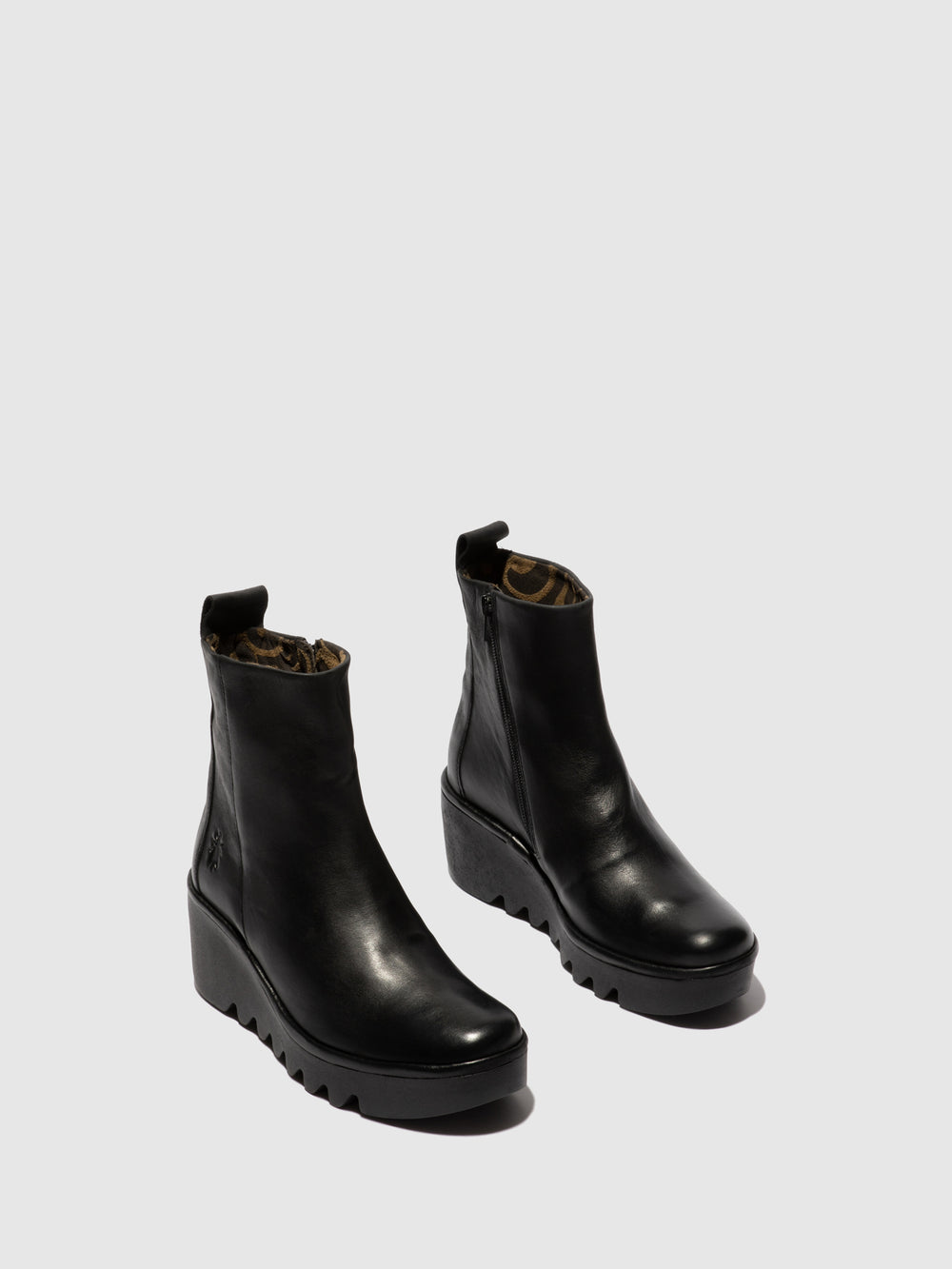 Zip Up Ankle Boots BALE250FLY VERONA BLACK