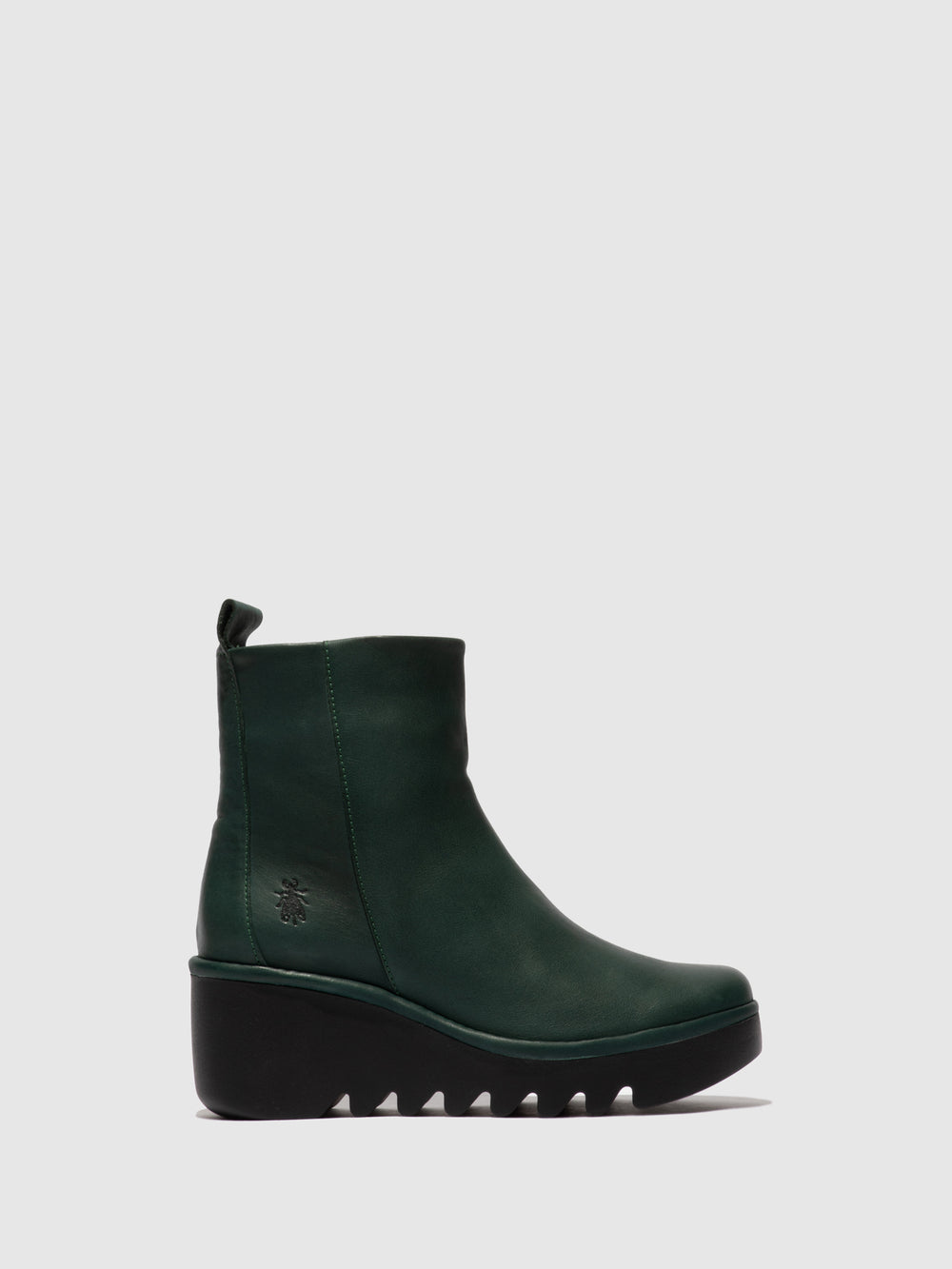 Zip Up Ankle Boots BALE250FLY VERONA GREEN FOREST