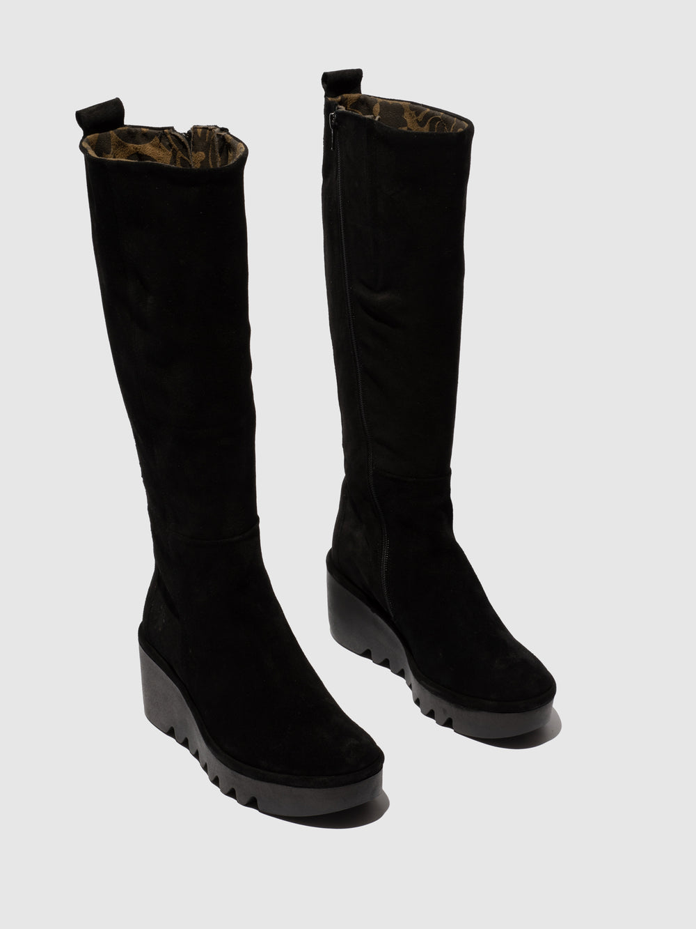 Zip Up Boots BARV251FLY OILSUEDE BLACK