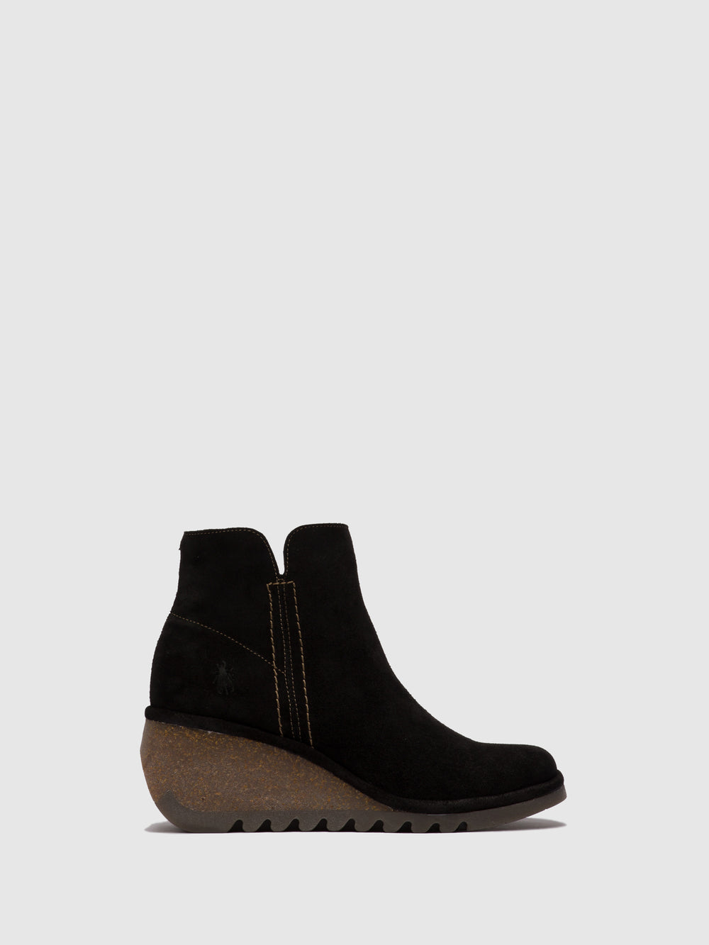 Zip Up Ankle Boots NILO256FLY OILSUEDE BLACK