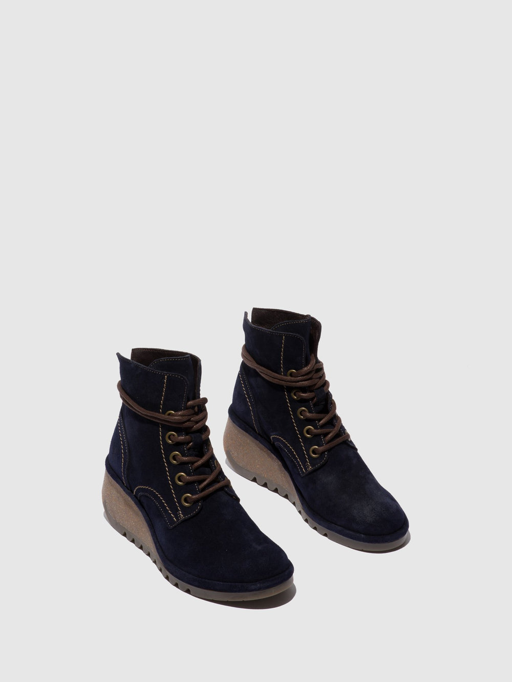 Lace-up Ankle Boots NERO257FLY OILSUEDE NAVY