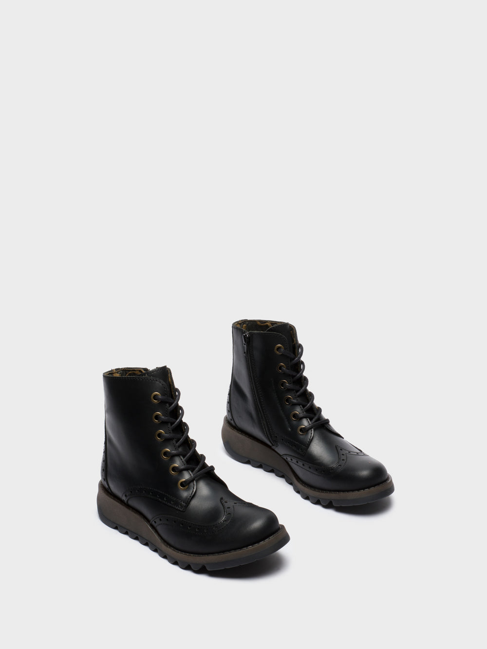 Lace-up Ankle Boots SARL069FLY BLACK