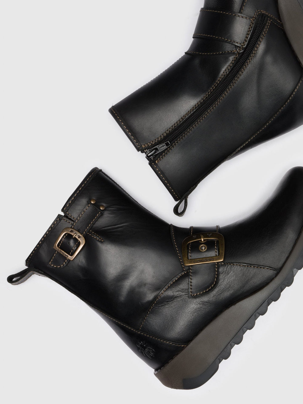 Buckle Ankle Boots SINO525FLY BLACK