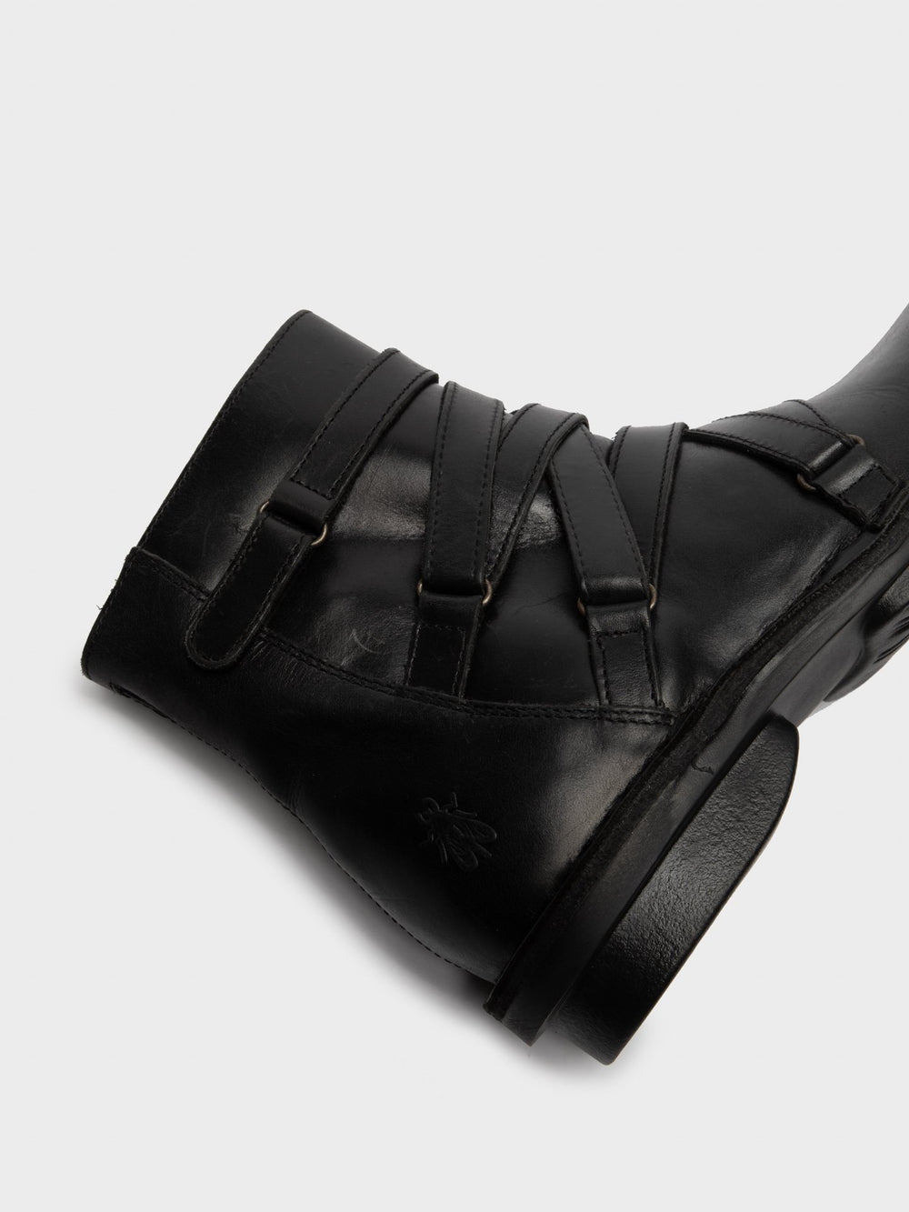 Zip Up Ankle Boots FELT005FLY BLACK