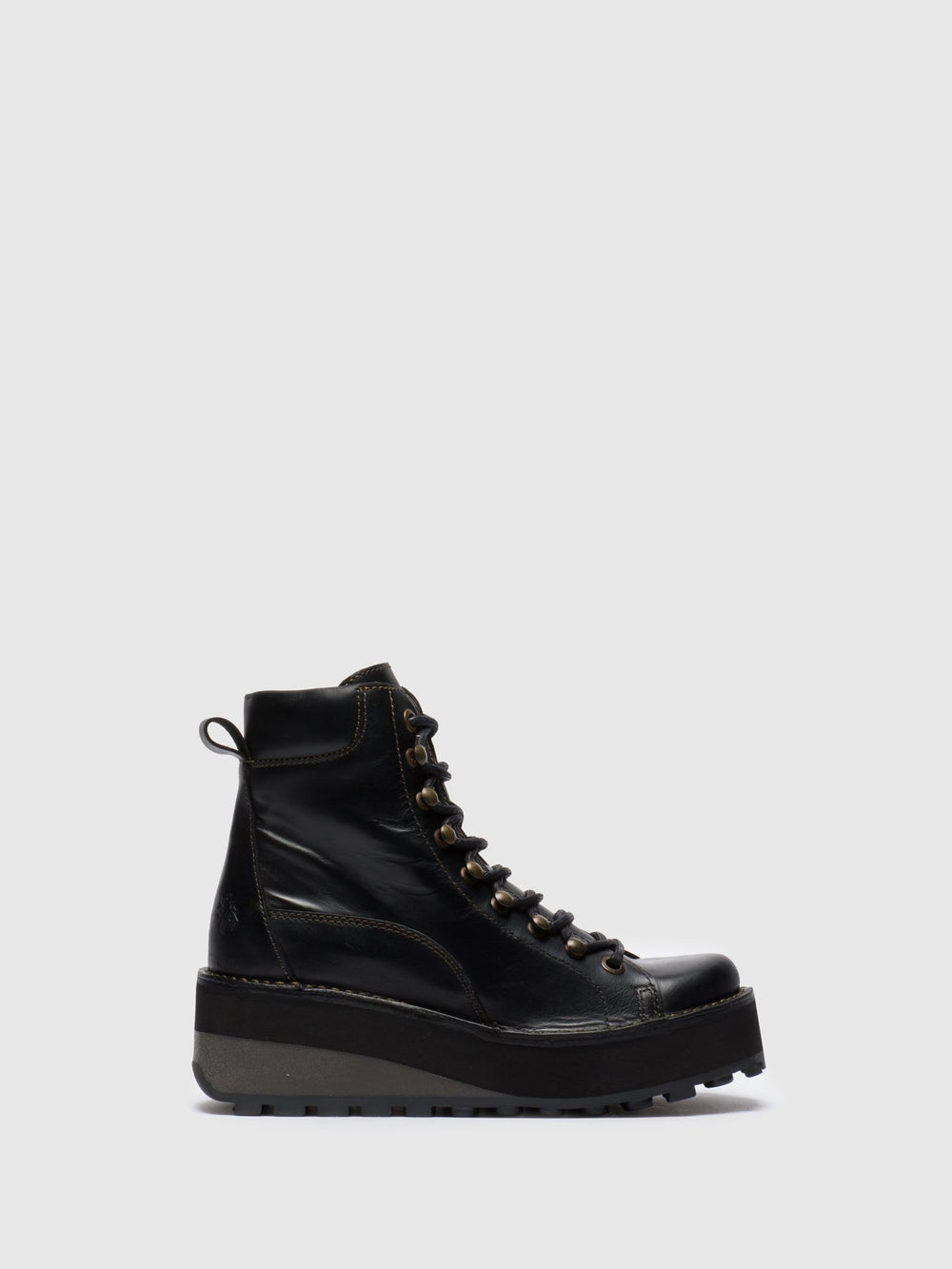 Lace-up Ankle Boots HAKU019FLY BLACK