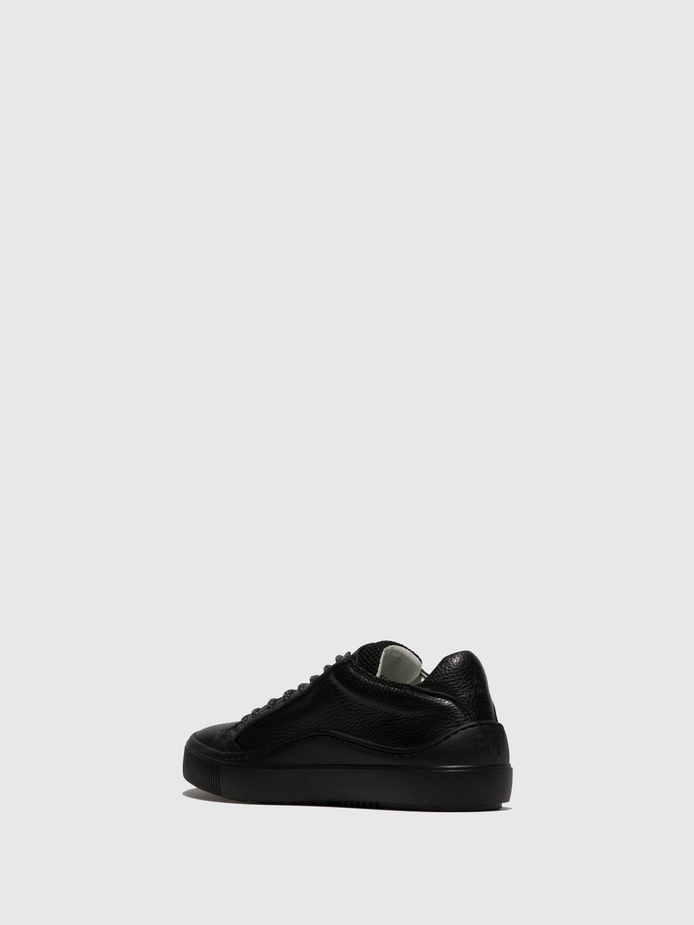 Black Lace-up Trainers