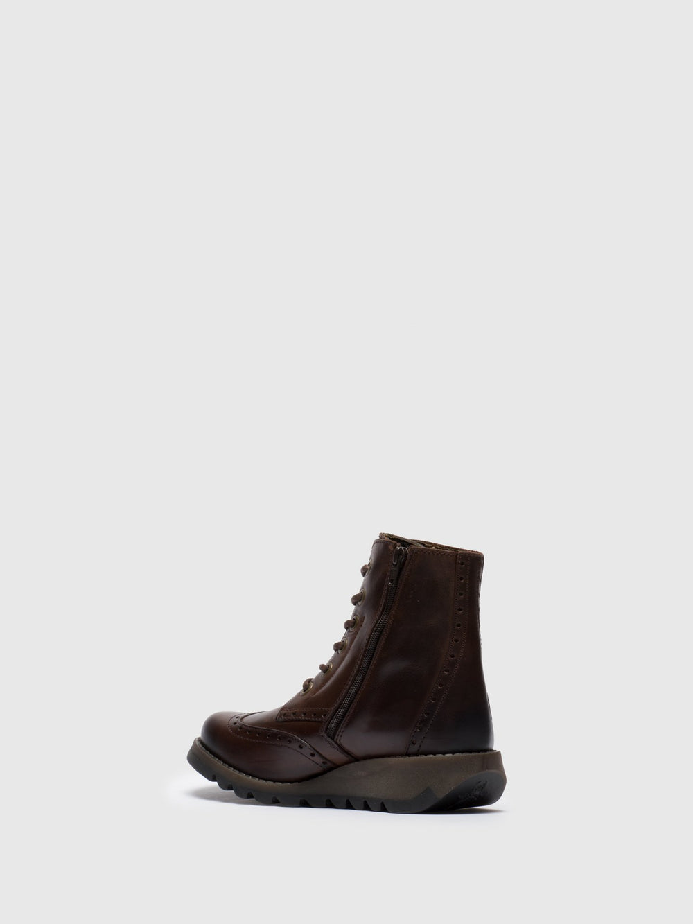 Lace-up Ankle Boots SARL069FLY DK.BROWN