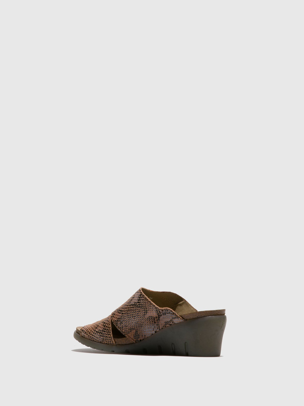 Tan Open Toe Mules