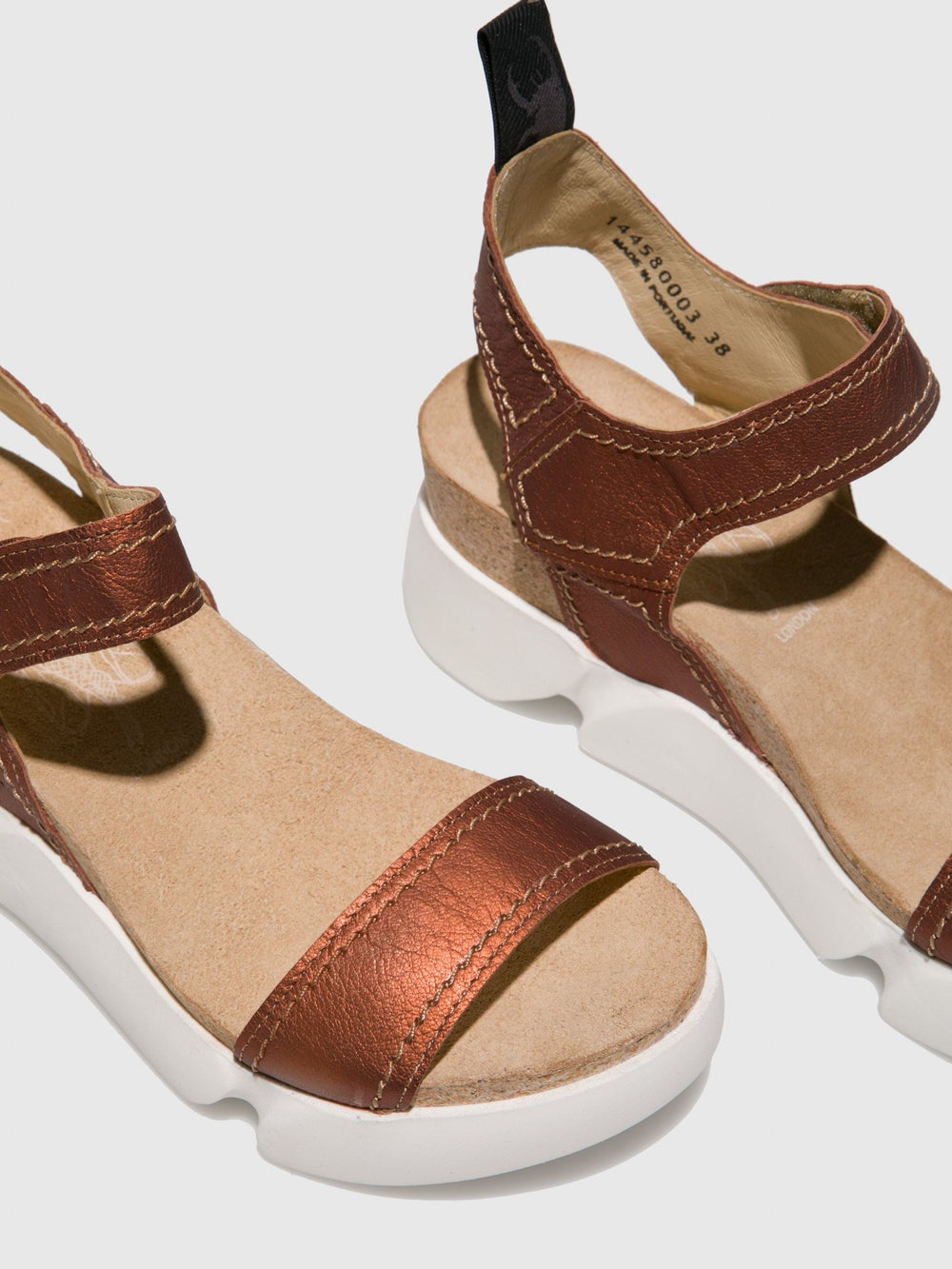 RosyBrown Velcro Sandals