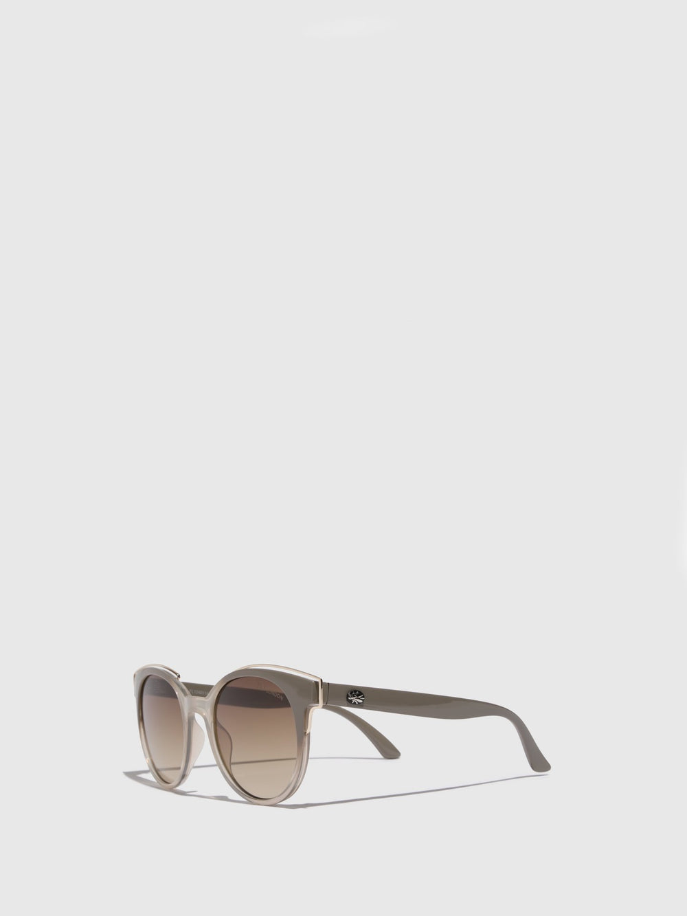 Brown Clubmaster Style Sunglasses