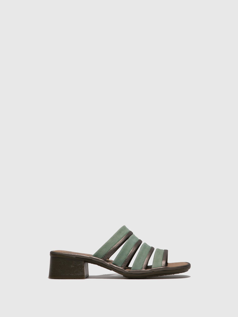 PaleGreen Open Toe Mules