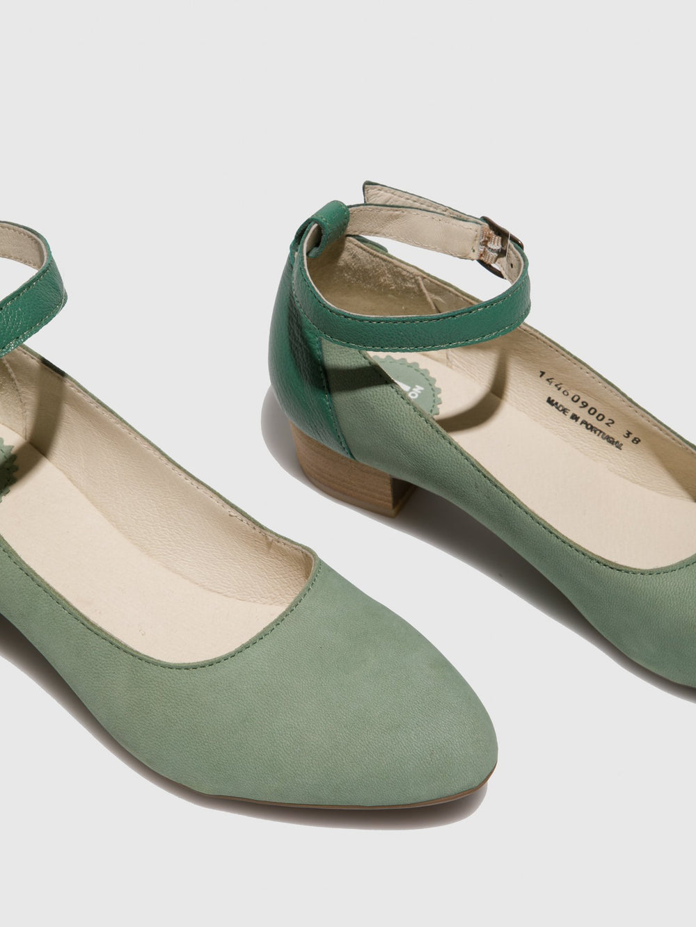 PaleGreen Ankle Strap Shoes