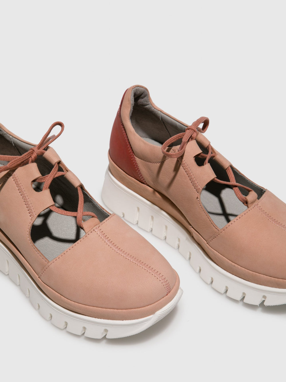 LightPink Lace-up Shoes