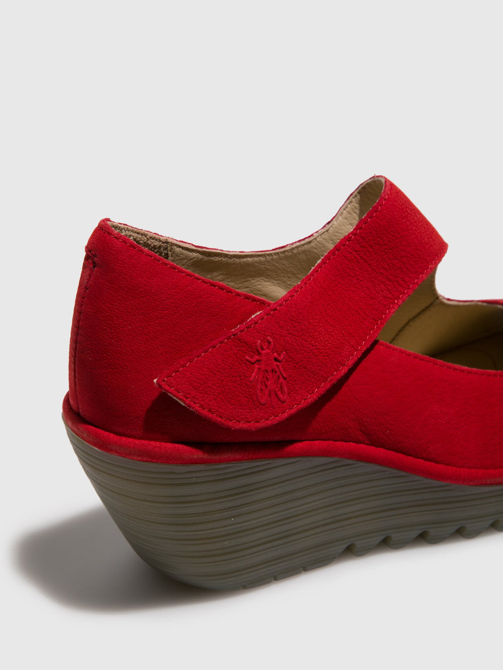 Crimson Wedge Shoes