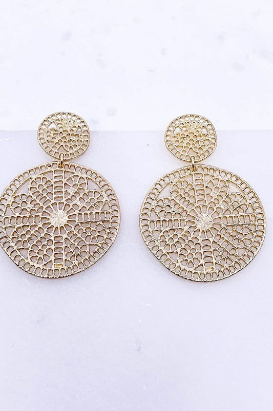 Circular Medallion Earrings