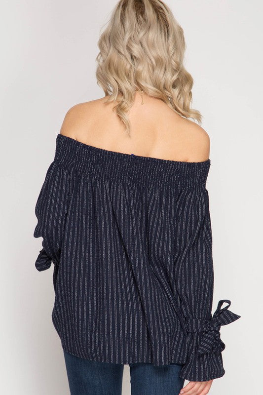 Smocking and Stripes Top