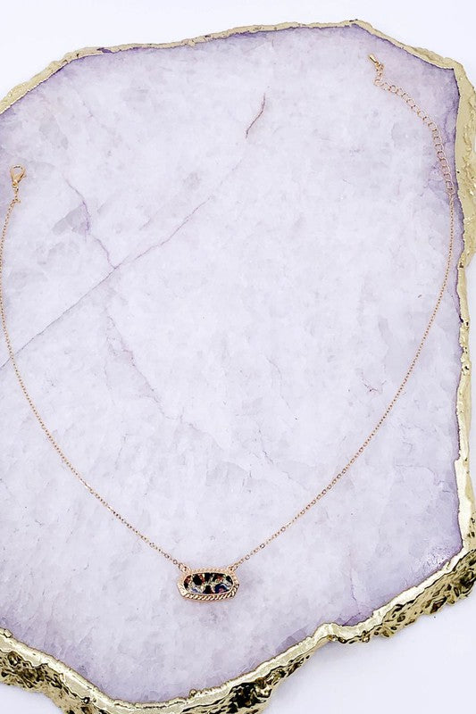 Leopard Pendant Necklace