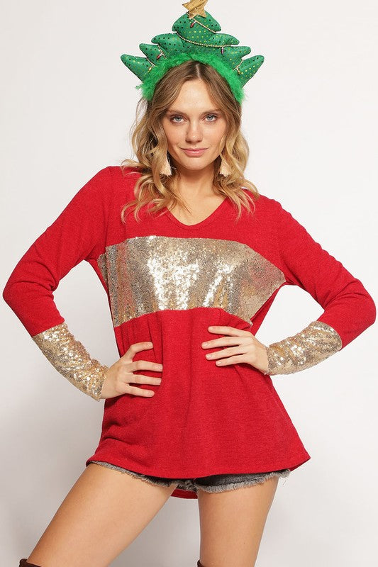 Home For The Holidays Knit Top