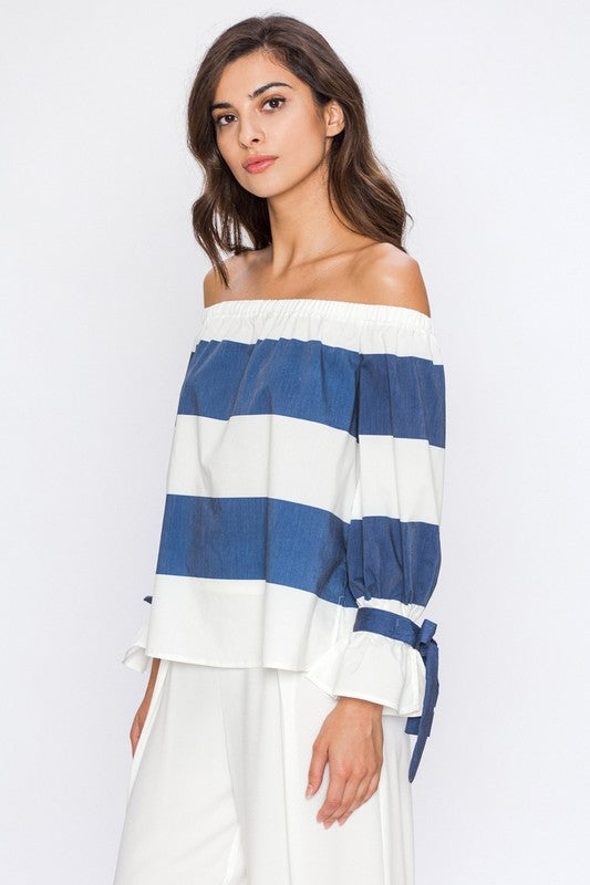 Anchors Aweigh Off-the-Shoulder Top